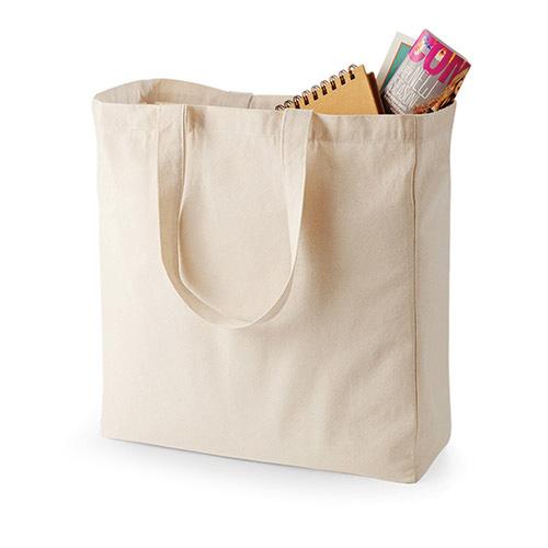 Canvastasche TOP Shopper aus hochwertigem Canvas-Stoff von Quadra, mit Bodenfalte für grosses Volumen