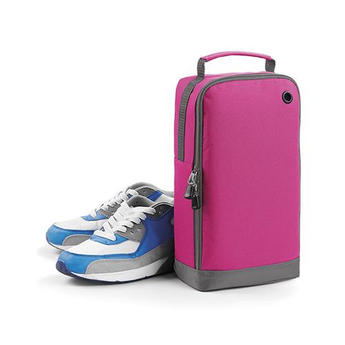 Schuhtasche Sporttasche mit aufklappbarer Front, Belüftungsöse und gepolstertem Tragegriff in vielen frischen Trendfarben