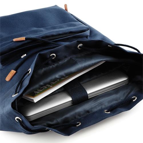 Vintage Laptop Backpack Rucksack von Bagbase BG613 navy Ansicht Innentasche