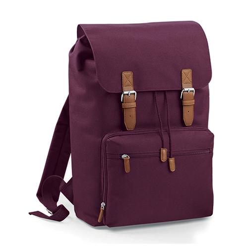 Vintage Laptop Backpack Rucksack von BagBase BG613 als Werbemittel bedruckt mit Logo bei taschenprint Burgundy