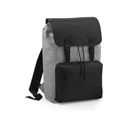 Vintage Laptop Backpack Rucksack von BagBase BG613 als Werbemittel bedruckt mit Logo bei taschenprint Grey Marl Black