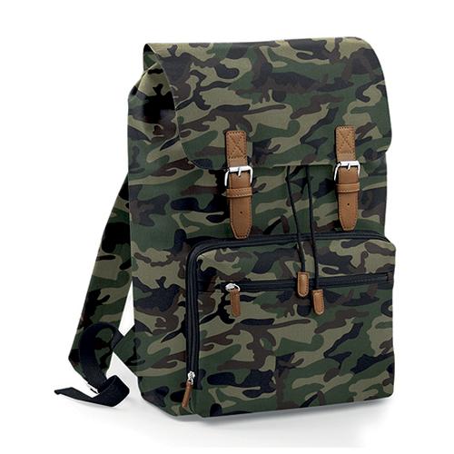 Vintage Laptop Backpack Rucksack Jungle Camo
