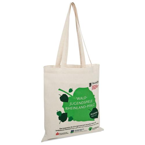 Basic Baumwolltasche lange Henkel günstig mit Werbemittel bedrucken bei taschenprint.de