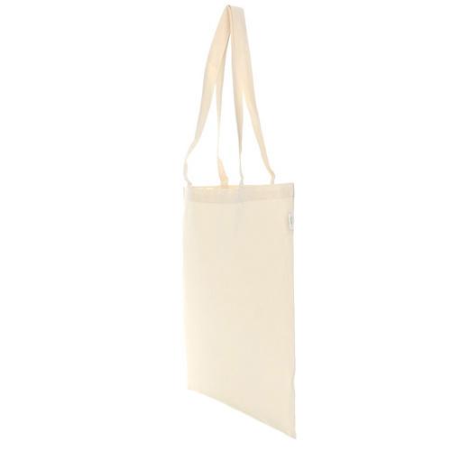 Bio Baumwolltasche lange Henkel Fairtrade zertifiziert 38x42 cm aus 150g/m² BIO-Baumwolle GOT`s zertifiziert, nachhaltige ÖKO Tasche zum Bedrucken mit Logo
