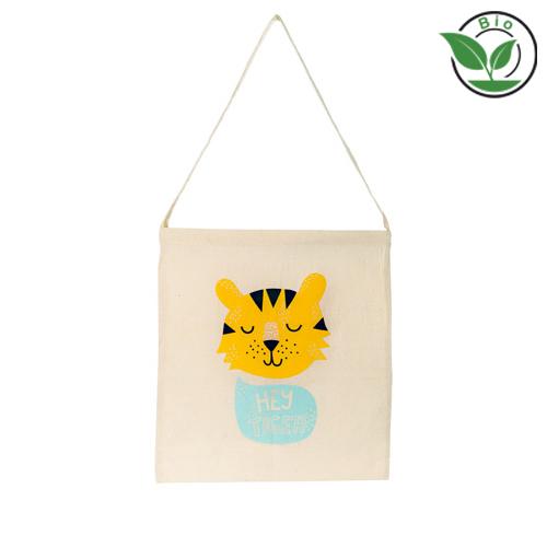 Bio Baumwolltasche Organic Cotton Sling Bag mit Logo bedrucken bei taschenprint.de