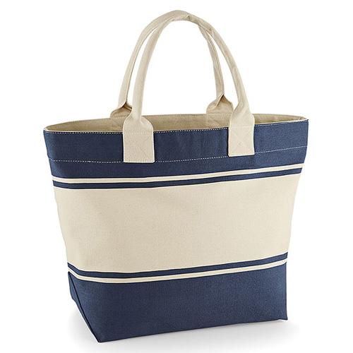 Robuste Einkaufstasche Canvas Deck Bag aus schwerem Baumwoll-Canvas, mit Innentasche, grosses Volumen, von Quadra, in naturfarbend oder bicolor