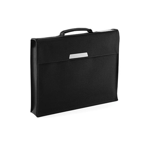 Dokumententasche Academy Book Bag, Überschlagtasche mit Tragegriff und Klettverschluss, plus Namensschildchen am Überschlag