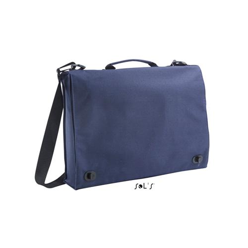 Businessbag Conference Messengertasche aus 100 % 600 D Polyester, Überschlag mit Schnellverschlüssen, Innentasche mit Reißverschluss, Karten- und Stifttasche unter Überschlag.