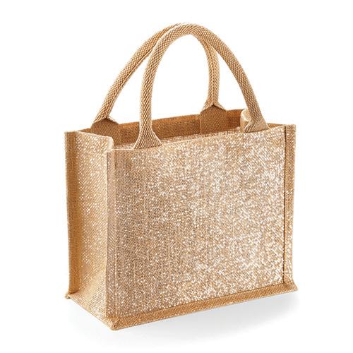 Jute Mini Gift Bag glänzend