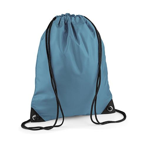Premium Turnbeutel BagBase in 32 Farben aus Polyester mit schwarzen Kordeln, BG10.