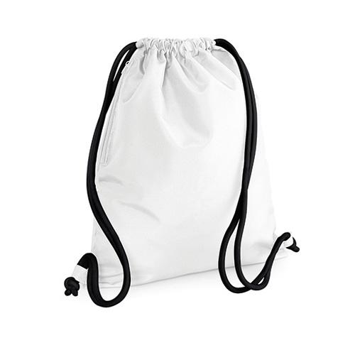 Turnbeutel Icon Drawstring Bag Sportbeutel aus schwerem Polyester mit weißen oder bunten Kordeln und Seitentasche zum Bedrucken als Werbemittel bei taschenprint.de