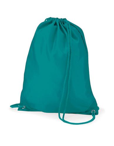 Turnbeutel mit bunter Kordel in der Taschenfarbe, Rucksack aus Nylon für Firmenwerbung