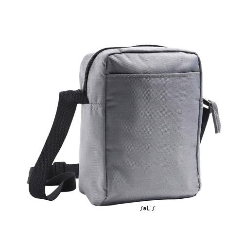 Umhängetasche Travel Bag Casual Easy Werbetasche, mit Außentasche und Schultergurt in schwarzem Nylon