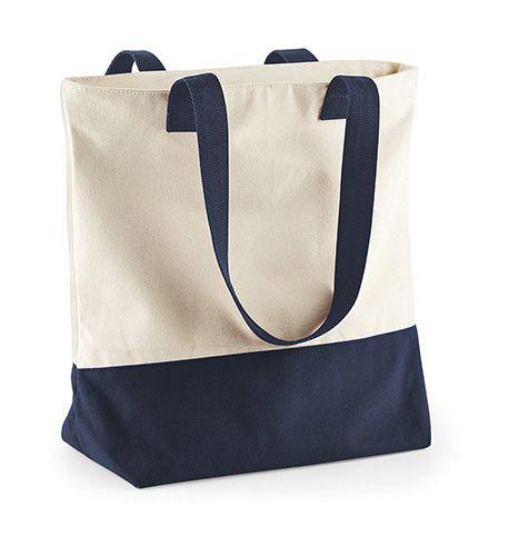 Westcove Canvas Shopper, eine große Einkaufs-/Strandtasche aus dem schweren gebürsteten 407 g/m² Baumwoll-Canvas, mit Gurtband-Henkel und Reißverschluss