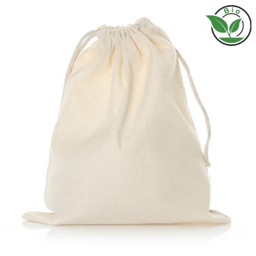Bio Baumwolle Zuziehbeute doppelte Zuziehkordel bedrucken taschenprint