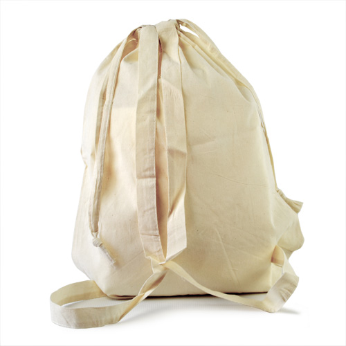 Rucksack Baumwolle mit Gurten und Tragekordel 38x50cm aus 135 g/m² Baumwolle bequem zu tragen auf dem Rücken als Turnbeutel ÖKO-Tex-zertifiziert, Werbeartikel bedrucken bei taschenprint