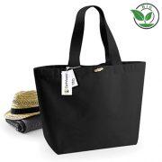 Organic Baumwolltasche Marina Bag XL Einkaufstasche von Westford Mill aus schwerem 340 g/m² Baumwoll-Segeltuch, Control Union zertifiziert bei taschenprint.de