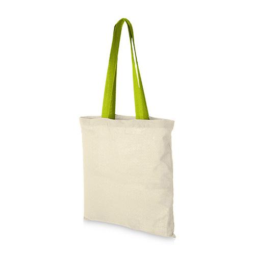 Baumwolltasche Nevada farbige lange Henkel Messetasche Werbeaufdruck
