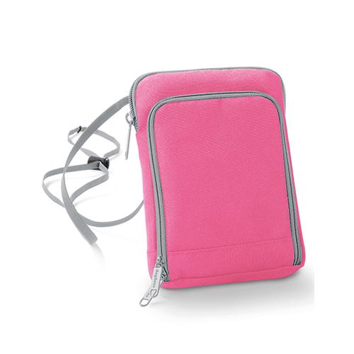 Handytasche Travel Wallet von Taschenprint Werbemittel Pink Light Grey