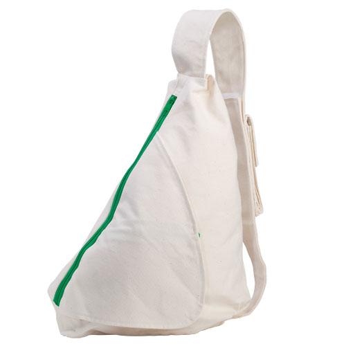 Baumwoll-Schultertasche Triangel Natur umweltfreundliche Freiteittasche