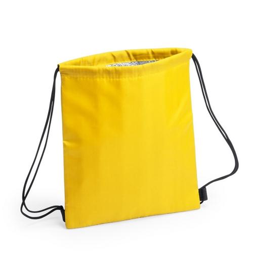 Kühltasche-Beutel Rucksack Nipex Turnbeutel mit Kühlfunktion gelb, mit Druck
