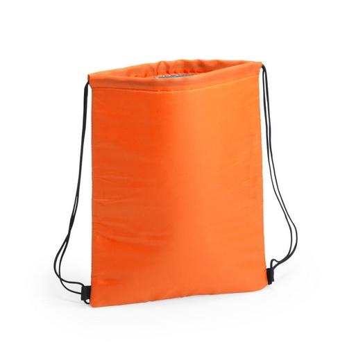Kühltasche-Beutel Rucksack Nipex Turnbeutel mit Kühlfunktion in orange, mit Logodruck