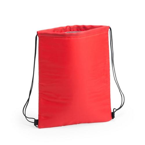 Kühltasche-Beutel Rucksack Nipex Turnbeutel mit Kühlfunktion in rot Werbeprodukt