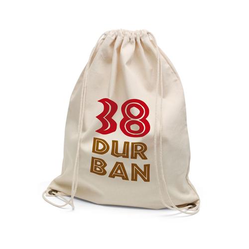 Turnbeutel Durban Twill-Baumwolle in natur aus schwerem Baumwollstoff bedrucken mit Logo bei taschenprint.de