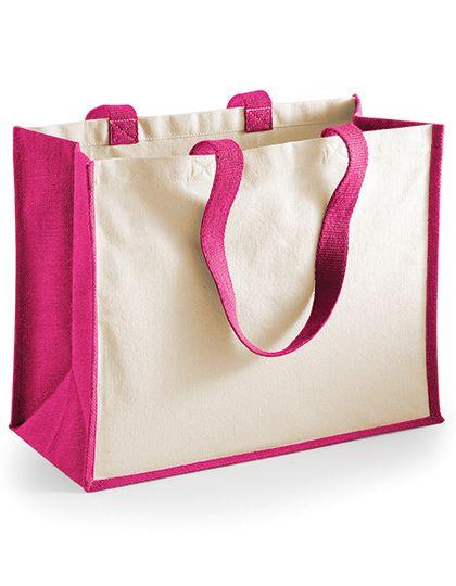 Jute Mini Gift Bag von Wesford Mill fuchsia zum bedrucken bei taschenprint.de