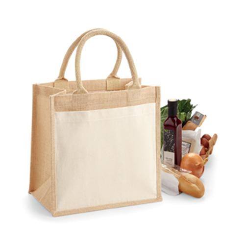 Jutetasche Cotton Pocket Jute Gift Bag Werbetasche zum Bedrucken bei taschenprint.de