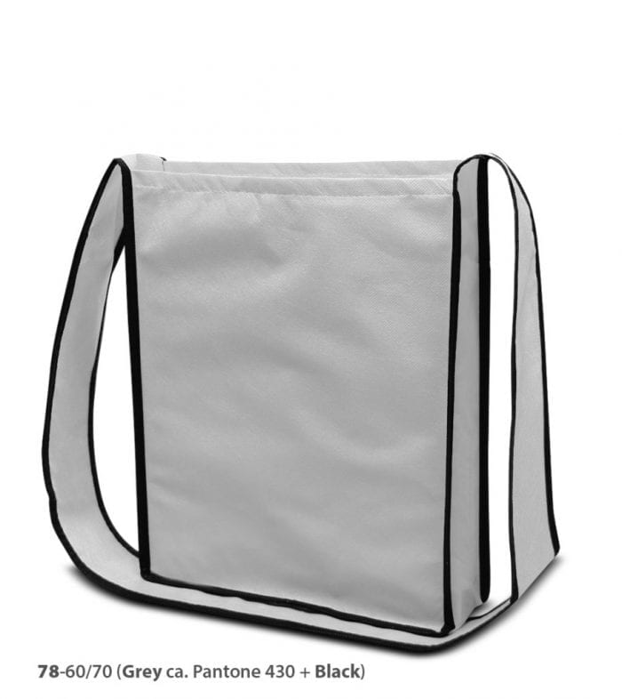 PP-Vliestasche Bristol Umhängetasche Non Woven weiß-schwarz