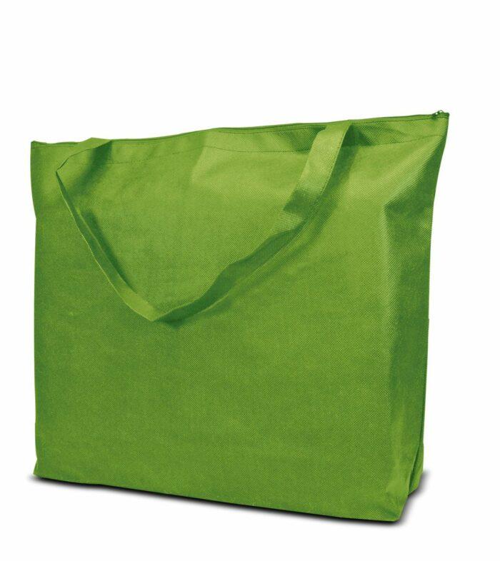 PP-Vliestasche Stockholm Non Woven Werbetasche zum Bedrucken mit Logo oder Werbung, von Joytex grün