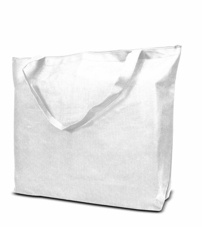 PP-Vliestasche Stockholm Non Woven Werbetasche zum Bedrucken mit Logo oder Werbung, von Joytex weiß
