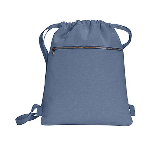 Canvas Cinch Sak Turnbeutel mit Logo bedrucken bei Taschenprint Blue Jean