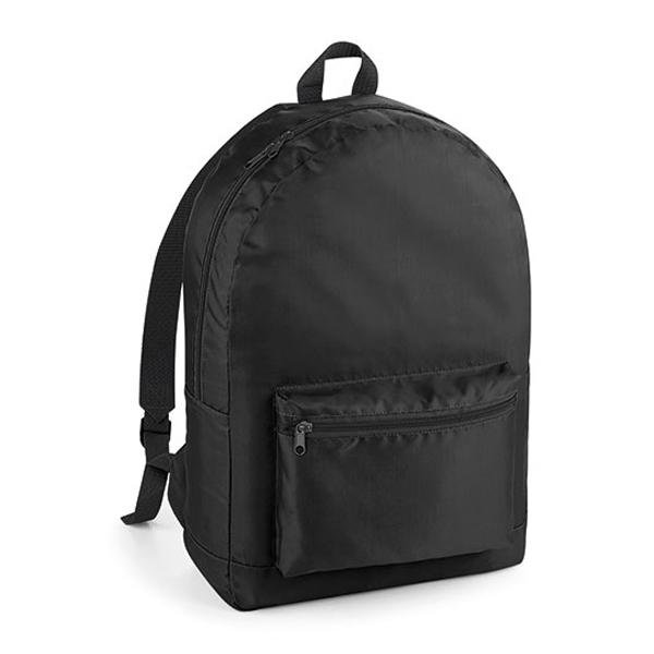 Packaway Backpack Rucksack von BagBase mit Logo bedrucken Black