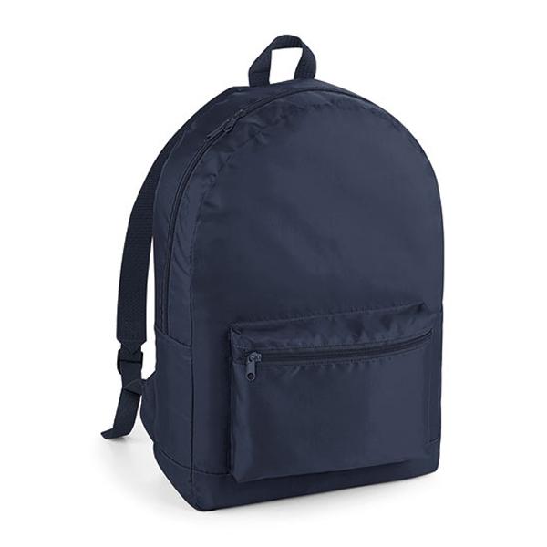 Packaway Backpack Rucksack von BagBase mit Logo bedrucken French Navy