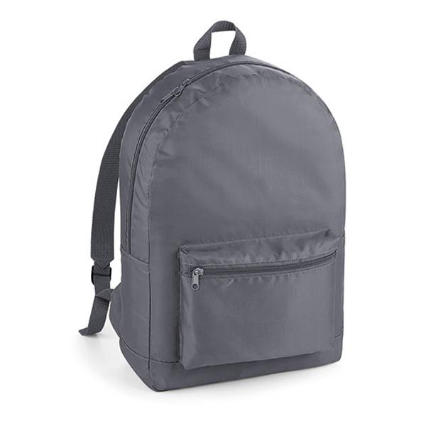 Packaway Backpack Rucksack von BagBase mit Logo bedrucken Graphite grey