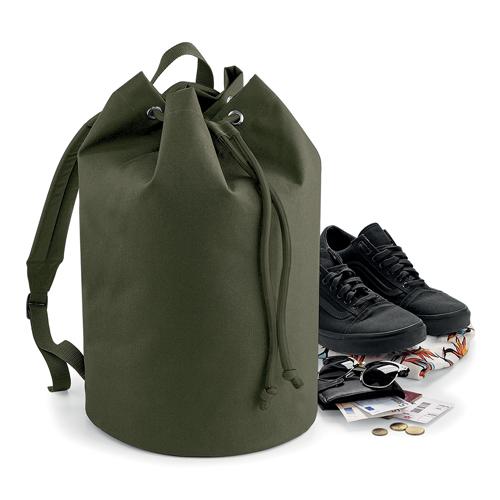 Rucksack Seesack von BagBase BG127 Original Drawstring Bag wasserabweisend, gepolsterter und verstellbarer Gurt, bedruckt mit Logo als Werbeartikel bei taschenprint.de