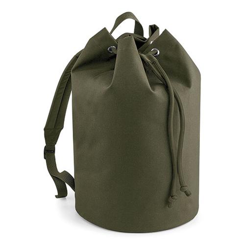 Rucksack Seesack von BagBase in Military Green ein Werbeartikel, den man bei taschenprint im Siebdruck bedrucken kann