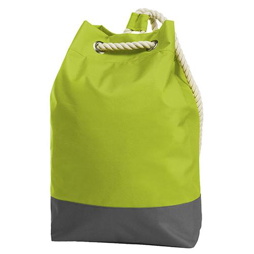 Rucksack Bonny Halfar 1809996 Backpack, ormschöner, großer Rucksack in grün mit dekorativen Ösen und Kordelträgern, bedruckt mit Logo als Werbeartikel bei taschenprint