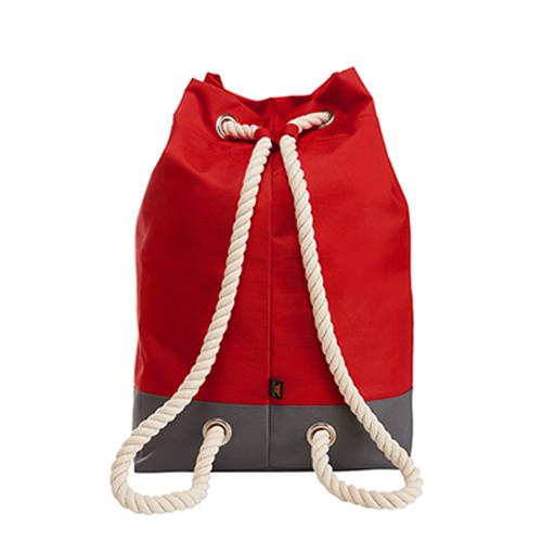 Rucksack Bonny Halfar 1809996 Backpack, formschöner, großer Rucksack in grün mit dekorativen Ösen und Kordelträgern, bedruckt mit Logo als Werbeartikel bei taschenprint